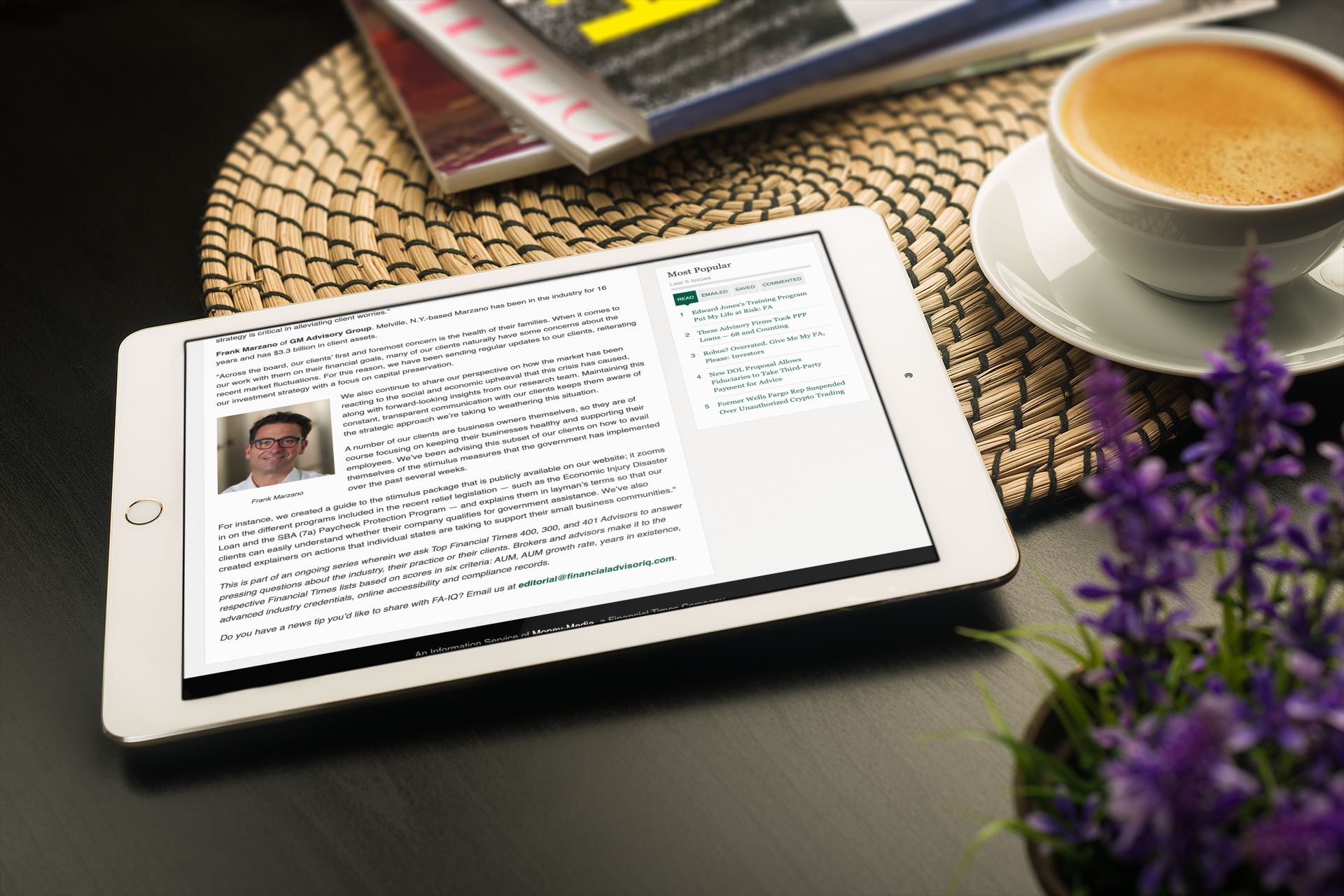Frank Marzano Featured in Financial Advisor IQ